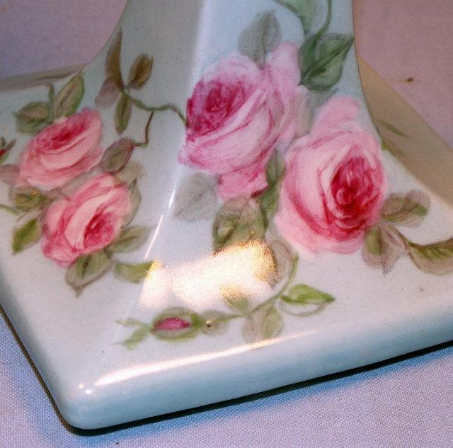 Hand Painted  Flowered Porcelain AUSTRIAN CANDLEHOLDERS