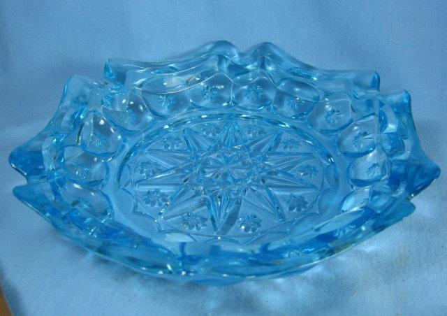 1950's Pattern Glass Cigar Ashtray