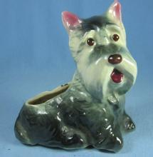SCOTTY Dog Planter - Vintage pottery