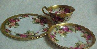 Golden Rose Royal Chelsea 3 piece -  Porcelain /  Fine China