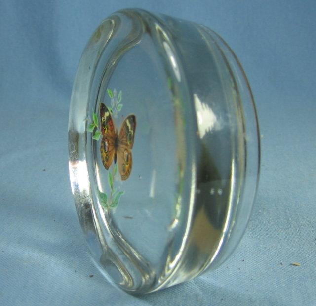 BUTTERFLY Paperweight - Vintage Viking Glass