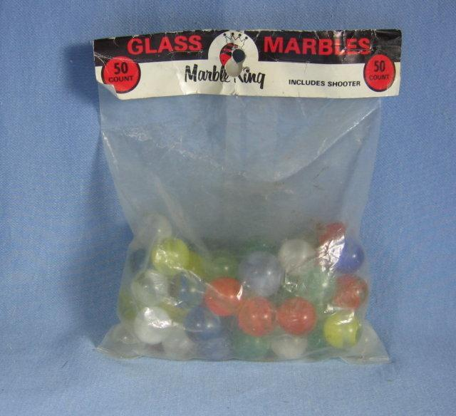 Gladding VITRO Cats Eye 20pc MARBLES Vintage New in Bag - toy