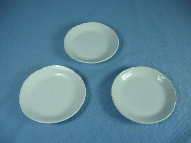 Antique Meakin BUTTER PAT Group - Antique Ironstone 3pc group