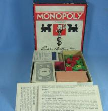 1935 Monopoly Game - Vintage Parker Bros Toy