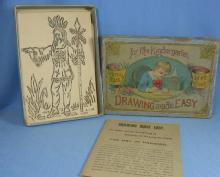 DRAWING MADE EASY Set #2  - Antique Game for Kintergarden late 1900's