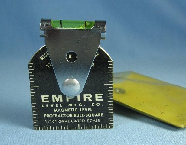 Magnetic LEVEL Protractor Level Rule & Square - Vintage Tool