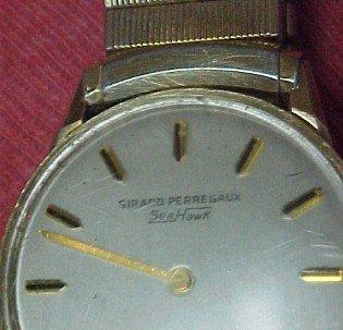 Girard Perregaux Sea Hawk Solid 14K Gold Watch - Jewelry