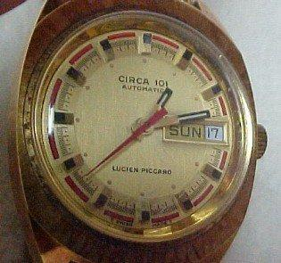 Lucian Piccard Vintage Circa 101 Water Resistent Gold Watch - Jewelry