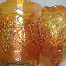 Imperial Carnival Grape Pitcher Creamer Sugar  Set - Glass