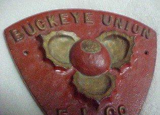 1938 FIRE MARK Ohio Buckeye - Metelware