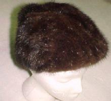 Brown Mink Fur Hat - Textiles