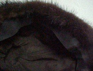 Brown Mink Fur Hat - Textiles
