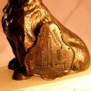 Plaque of WRIGLEY Building Chicago SCOTTIE DOG Oynx Ashtray - Tobacciana