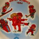CAMPBELL KIDS 1984 Winter Olympics Bowl with 2 Spoons - Advertising