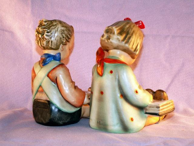 HUMMEL  Porcelain BOOK WORM Bookends