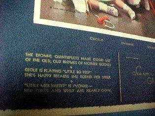 Dionne Quintuplets 1938 Calendar Indiana - Paper