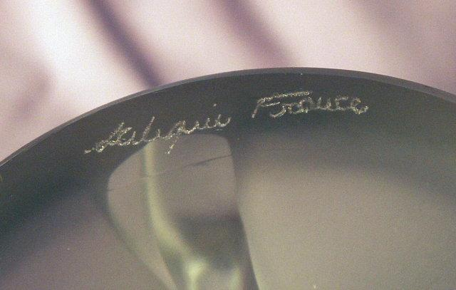 LALIQUE Frosted crystal Chrysis Paperweight - Works of Art