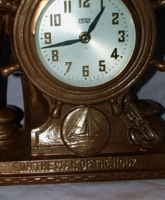 Franklin D. Roosevelt Mantle Clock - Metalware