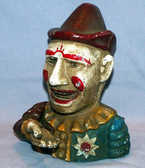 Older Repro HUMPTY DUMPTY Mechanical Cast Iron Bank - Metalware