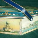 Sunshine Biscuits U.S. WARSHIPS Decorated Biscuit tin - Military