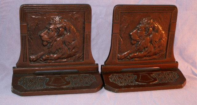Cast Iron LION Bookends - Metalware