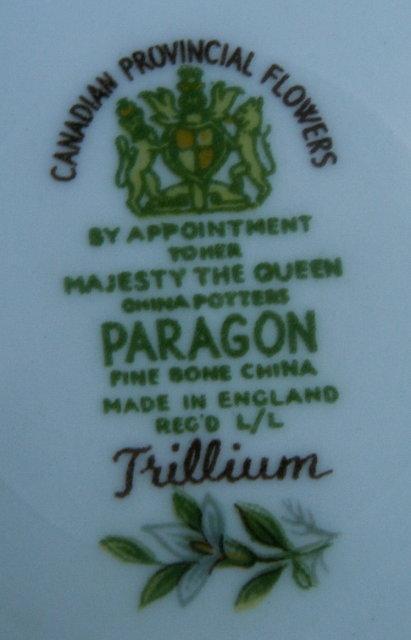 Paragon TRILLIUM Porcelain Cup & Saucer Set