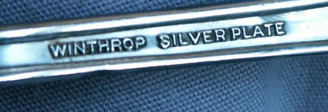 GERBER Silver Plated Baby's Spoon - Metalware