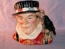 Colorful Royal Doulton THE YEOMAN OF THE GUARD Porcelain Jug