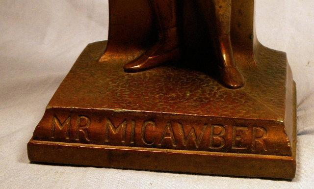 Cast Metal MR. MICAWBER Bookend/Doorstop - Metalware