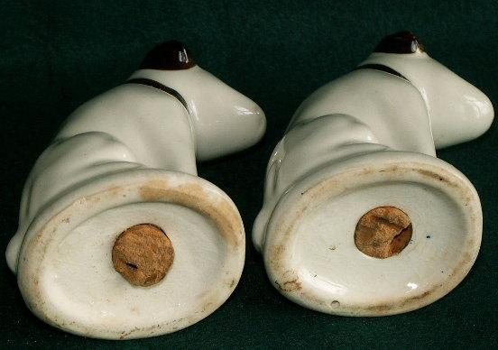 RCA Victor NIPPER Porcelain Salt & Pepper Shakers in Original Box