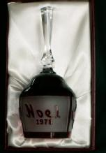 Goebel NOEL 1978 Limited Edition Crystal Bell in Original Box  - Glass