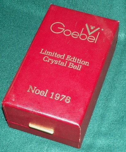 Red Goebel NOEL 1978 Limited Edition Crystal Bell in Original Box  - Glass