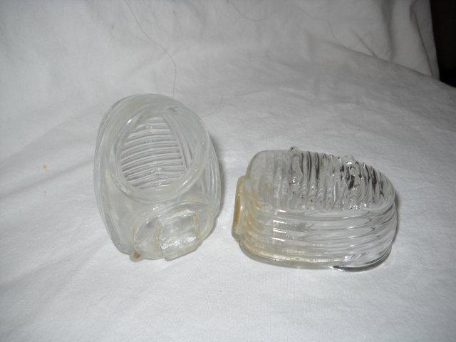 Bird feeders vintage glass