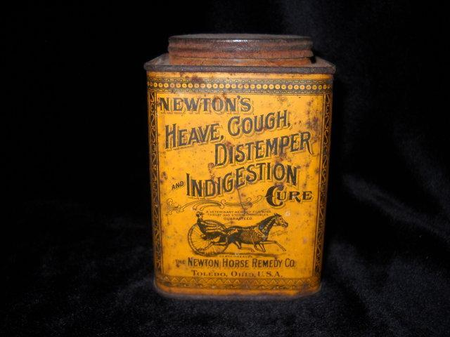 Tin advertising, NEWTON  HORSE REMEDY Co..