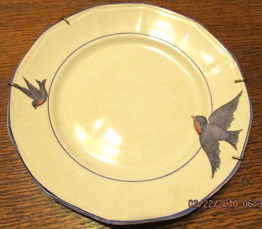 Blue Ridge Chicory Plate - Fine Porcelain Pottery