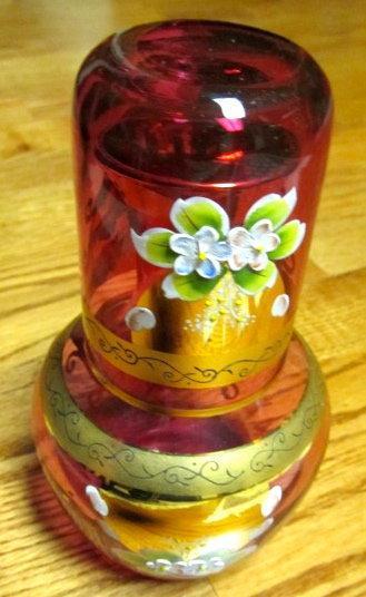 MOSER Carlsbad Enamel Amber Tumbler - Glass