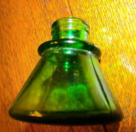 Green Carter's Ink Bottle - glass