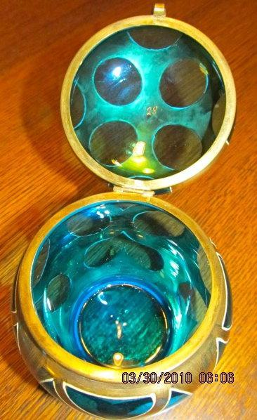 Art Deco Powder Box - Glass