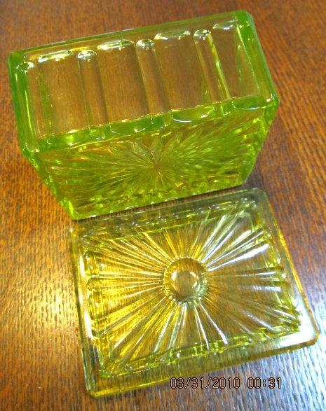 Vaseline Uranium Knife Rest - Glass