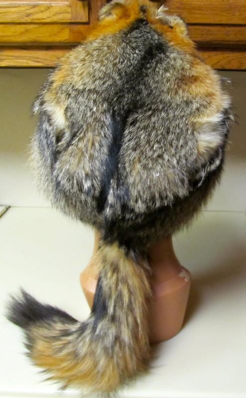 Gray Fox Fur Hat Man's Large - Sporting
