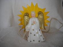 Vintage light up Christmas Angel