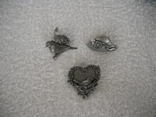 Birds & Bloom (3)  pins