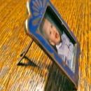 Blue Embossed Bronze Mini Frame - Metalware