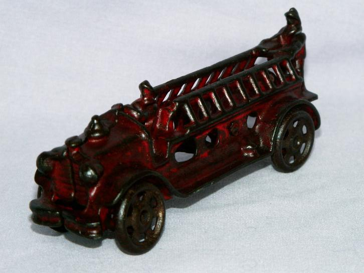 Fire Ladder Cast Iron  Toy Truck