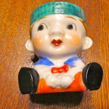 EGG CUP Dutch Boy Figural - Porcelain/Fine China