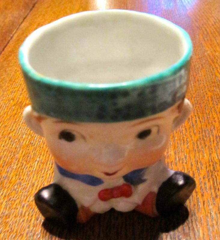 EGG CUP Dutch Boy Figural - Porcelain/Fine China