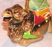 Porcelain CAMEL TEAPOT w/ 4 Cups Set