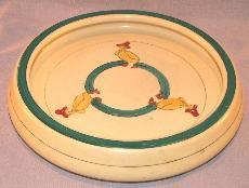 ROSEVILLE Juvenile Ware DUCK Roll Plate - Porcelain