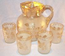 Lemonade Pitcher w/ 4 Glasses - Glass