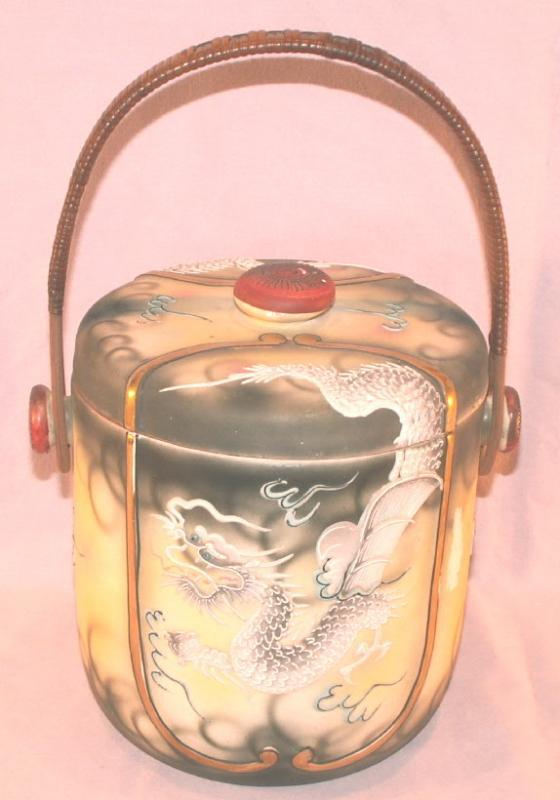 DRAGONWARE Porcelain Biscuit Jar